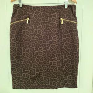 Michael Kors leopard print skirt